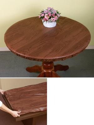 elasticized woodgrain table cover home linens all around the