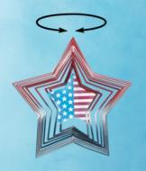 Patriotic Star Spinner