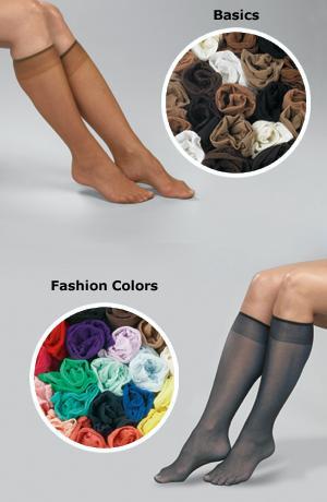 Basics Knee Hi Collection - Pkg. of 20