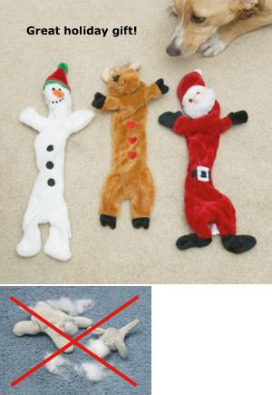 Flat Fun Dog Toys - Set of 3