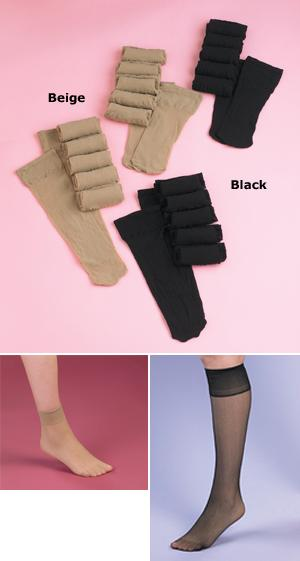Loose-Top Hosiery - Knee Hi's