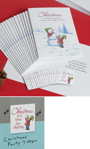 Snowman Christmas Cards and Magnets - Set of 18