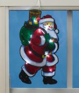 Light-Up Window Santa