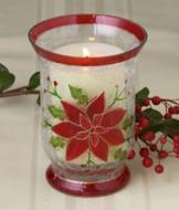 Poinsettia Candleholder