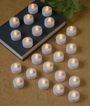 Flameless Flickering Tealights - Set of 24