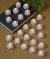 Flameless Flickering Tealights - Set of 24
