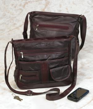 Burgundy Patchwork Bag