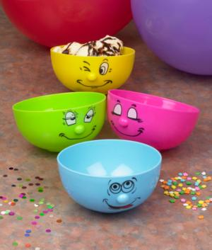 Silly Face Bowls - Set of 4