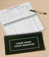 Oversized Check Register