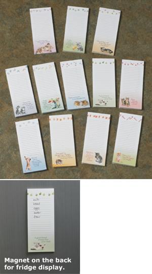 Kitty Seasonal Notepads - Set of 12
