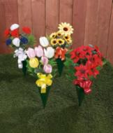 Everlasting Outdoor Flower Bouquets - Set of 4
