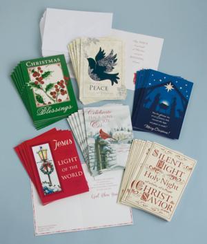 Religious Christmas Card Assortment - Set of 36