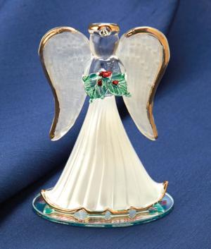 Handblown Glass Christmas Angel Collectible