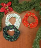 Holiday Cowl Scarves - Set of 3
