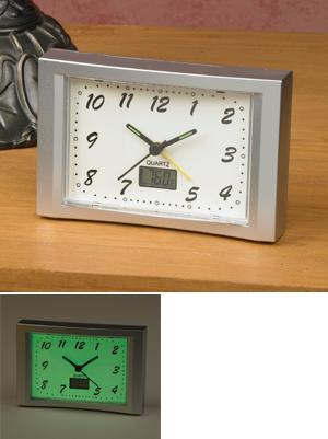 Glow-in-the-Dark Clock with Temperature Display