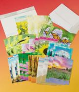 Inspirational Nature-Themed Greeting Cards - Set of 24