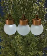 Hanging Solar Globe Lights - Set of 3