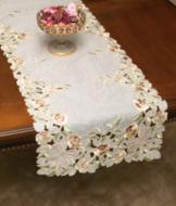 Embroidered Floral Table Runner