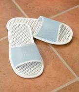 Bath Slippers with Textured Soles - A Pair