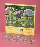 Wanna Play? Puppy with Horses Puzzle
