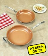 Red Copper Nonstick Fry Pan - 12