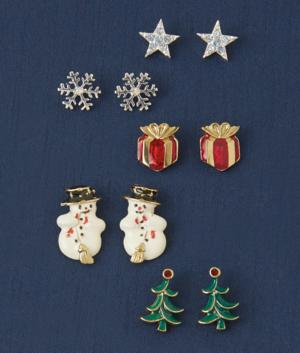 Holiday Pierced Earring Collection - 5 Pairs