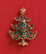 Happy Christmas Tree Pin