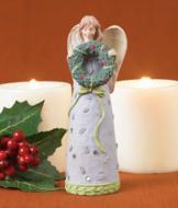 Christmas Angel with Wreath Figurine