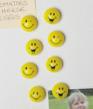 Smiley Face Magnets - Set of 8