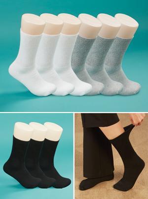 Women's White Loose-Top Socks - 3 Pairs