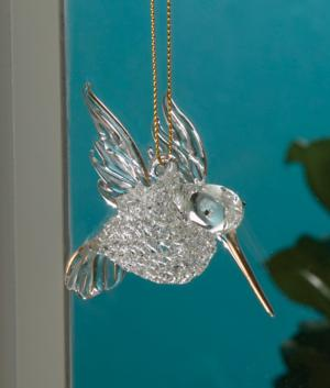 Spun Glass Hummingbird Ornament