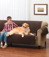 Reversible Sofa Cover - Chocolate/Tan