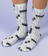 Crossword Puzzle Socks - A Pair
