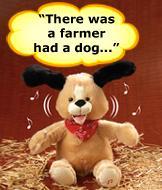 Bingo Musical Dog Plush
