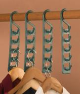 Space-Saving Closet Hooks - Set of 4