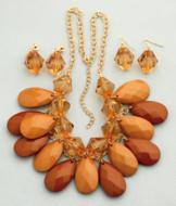 Caramel Drop Collar Necklace