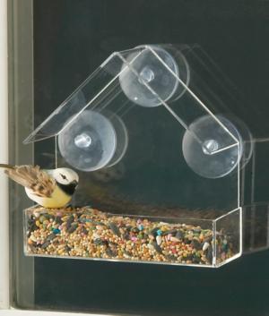 Clear Window-Mount Bird Feeder