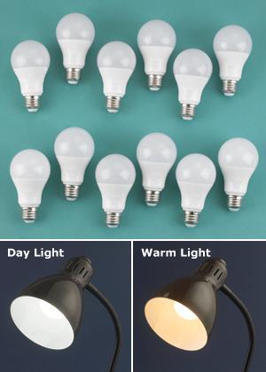 Day Light LED A-Bulbs - Set of 6