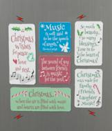Music-Themed Christmas Magnets - Set of 6