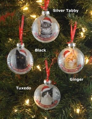 Santa Paws Cat Ornament - Each