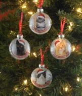 Santa Paws Cat Ornament - Each