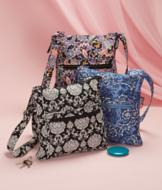 Quilted Crossbody Bag - Multicolor Paisley