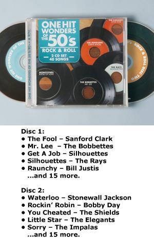 One Hit Wonders of the '50s - 2-CD Set