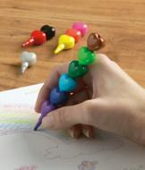 Heart-to-Heart Stacking Crayons