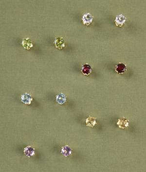 Semiprecious Earring Collection - 6 Pairs