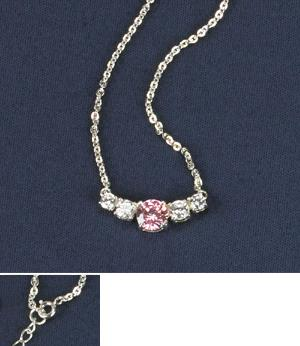 Soft Pink Cubic Zirconia Necklace