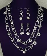 Silvertone Loop Necklace