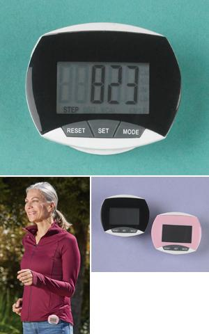 Clip-On Pedometer - Pink