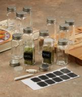 Glass Spice Jars - Set of 12