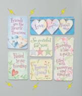 Folksy Friendship Magnets - Set of 6